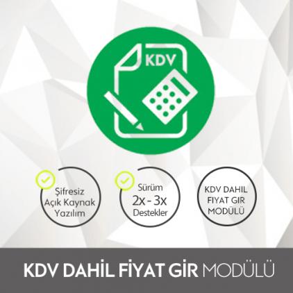 Opencart KDV Dahil Fiyat Gir Modülü