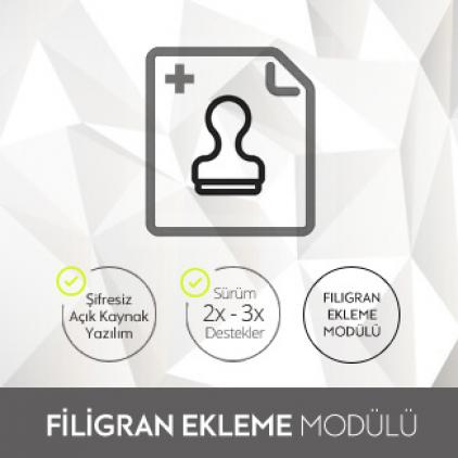 Opencart Filigran Ekleme Modülü