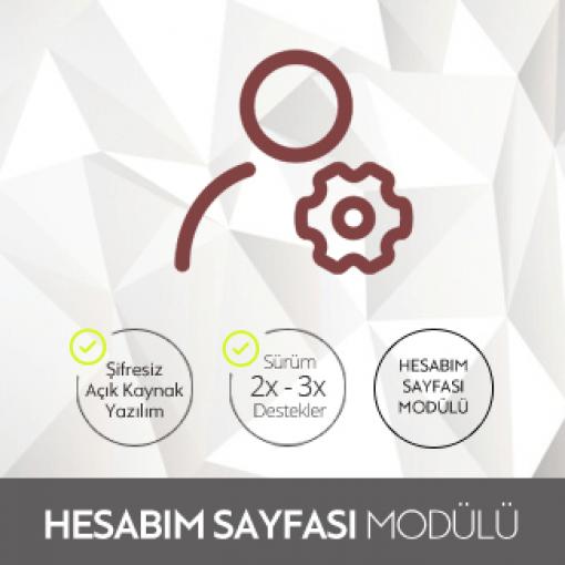Opencart Hesabım Sayfası Modülü