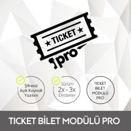 Ticket  Bilet Modülü PRO