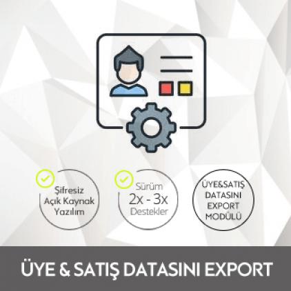 Opencart Üye&Satış Datasını Export Modülü